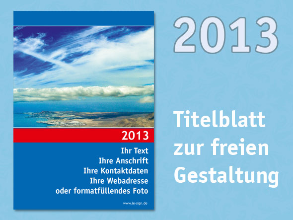 Kalender Titelblatt