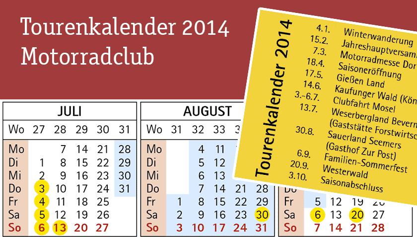 Kalender Motorradclub