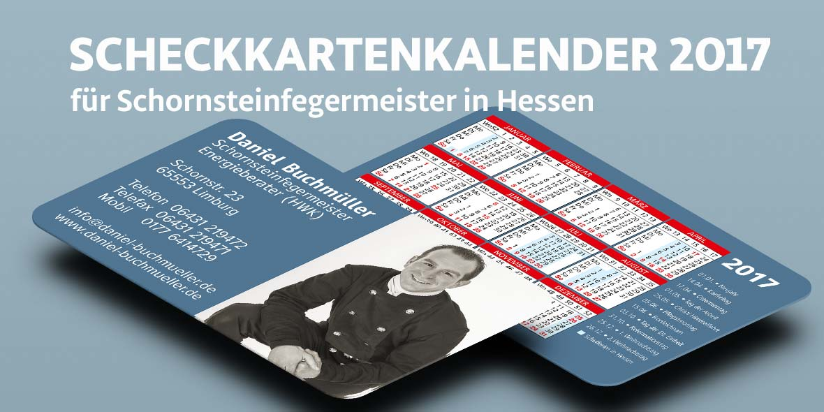 Scheckkartenkalender Schornsteinfegermeister aus Limburg