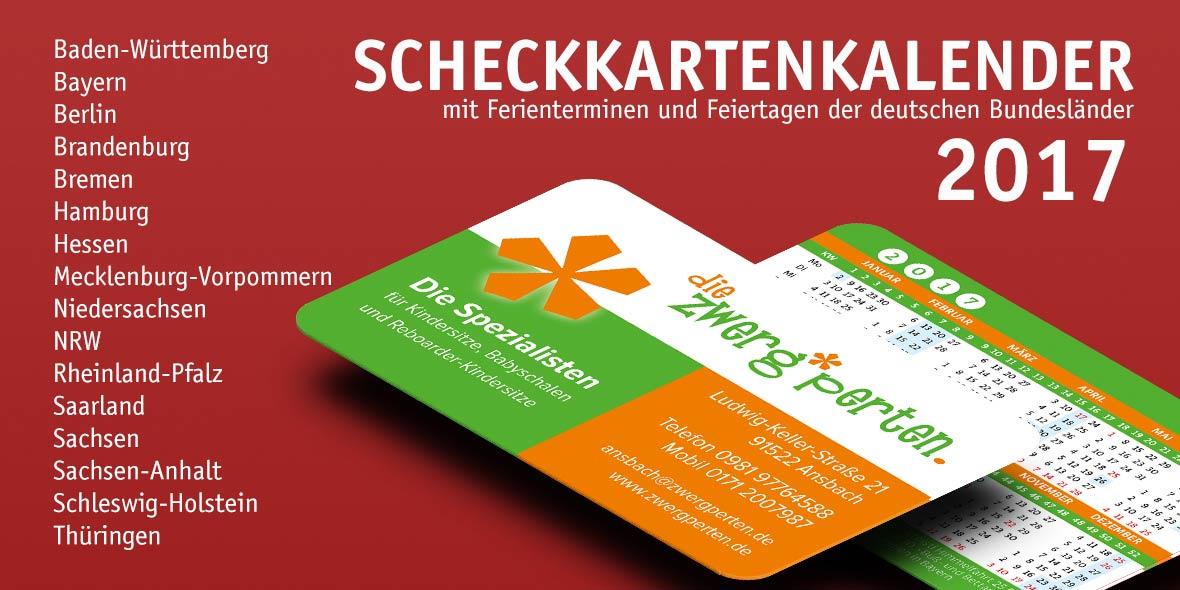 Kalender Visitenkarte Bayern