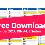 Free Download: Kalender DIN A4 für 2017