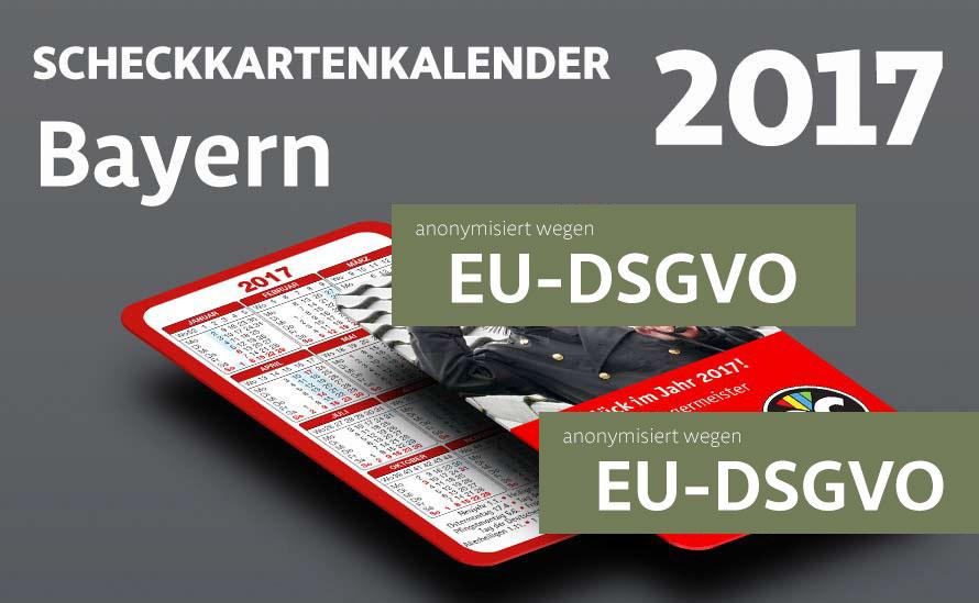 visitenkarten kalender bayern